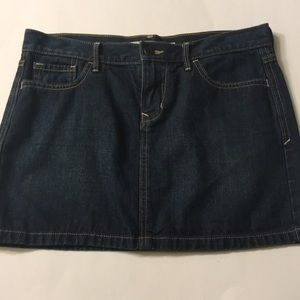 Old Navy dark denim jean mini skirt sz 4